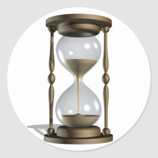 Pegatinas del reloj de arena pegatina redonda