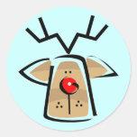 Pegatinas del reno del navidad