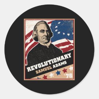 Pegatinas del revolucionario de Samuel Adams Pegatina Redonda