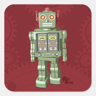 Pegatinas del robot del juguete pegatina cuadrada
