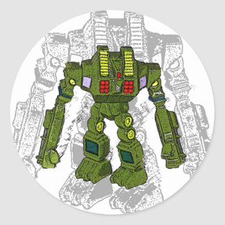 Pegatinas del robot del juguete pegatina redonda