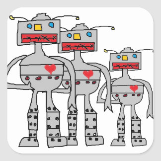 Pegatinas del robot pegatina cuadrada