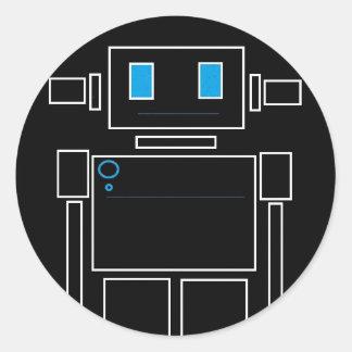 Pegatinas del robot pegatina redonda