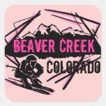 Pegatinas del rosa del esquí de Colorado del Beave