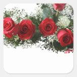 Pegatinas del rosa rojo