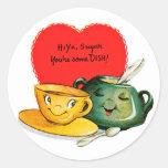 Pegatinas del saludo del el día de San Valentín Pegatinas Redondas