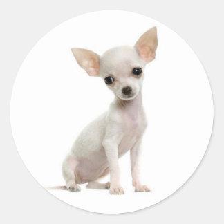 Pegatinas del saludo del perro de perrito de la pegatinas redondas