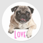 Pegatinas del saludo del perro de perrito del pegatinas redondas