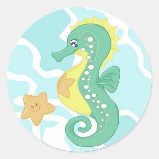 Pegatinas del Seahorse y de las estrellas de mar