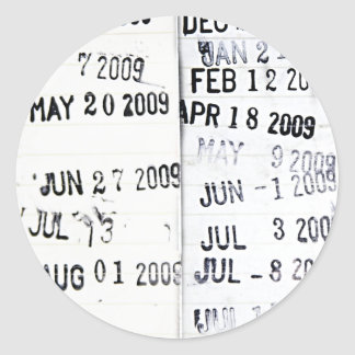 Pegatinas del sello de fecha de la biblioteca etiquetas redondas