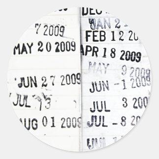Pegatinas del sello de fecha de la biblioteca pegatina redonda