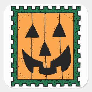Pegatinas del sello de Halloween Pegatina Cuadrada