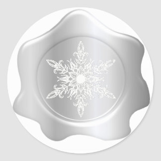 Pegatinas del sello de la cera de la plata del etiquetas redondas