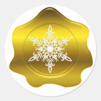 Pegatinas del sello de la cera del oro del navidad pegatina redonda