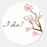 Pegatinas del sello del sobre de las flores de etiqueta redonda