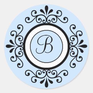 Pegatinas del sello del sobre del boda del pegatina redonda
