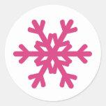 Pegatinas del sello del sobre del copo de nieve