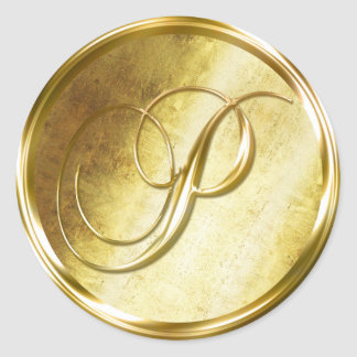 Pegatinas del sello del sobre del oro del pegatina redonda