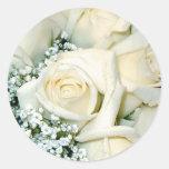 Pegatinas del sello del sobre del rosa blanco pegatina redonda
