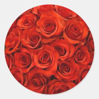 Pegatinas del sello del sobre del rosa rojo pegatina redonda