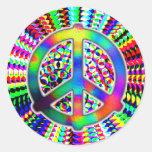 Pegatinas del signo de la paz
