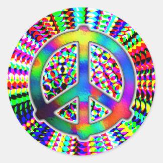 Pegatinas del signo de la paz etiquetas redondas