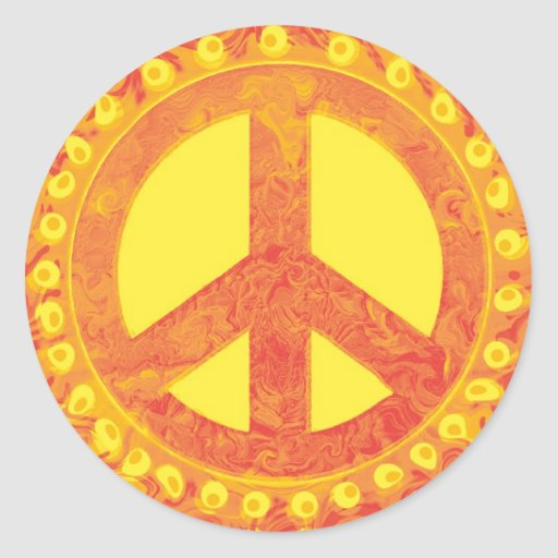 Pegatinas del signo de la paz pegatina redonda