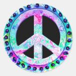 Pegatinas del signo de la paz pegatinas redondas