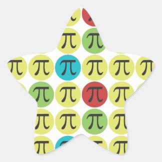 Pegatinas del símbolo de la MOD pi - regalo de la Pegatina En Forma De Estrella