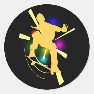 Pegatinas del skater pegatina redonda