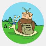Pegatinas del snail mail etiquetas redondas