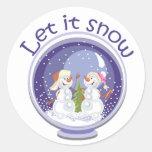 pegatinas del snowglobe de los muñecos de nieve de
