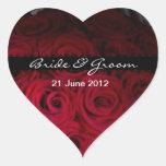 Pegatinas del sobre y del favor del rosa rojo