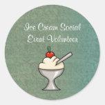 Pegatinas del Social del helado