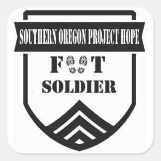 Pegatinas del soldado de infantería de SOPH Pegatina Cuadrada