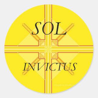 Pegatinas del solenoide Invictus Pegatinas Redondas