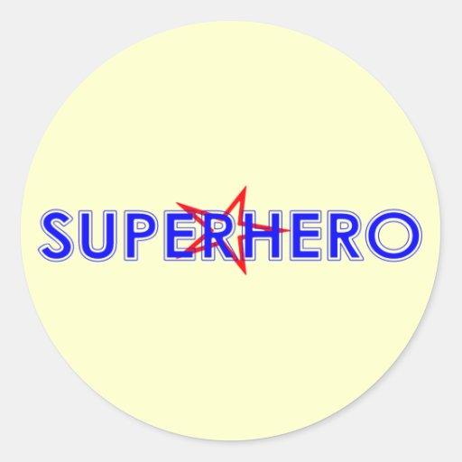 Pegatinas del super héroe pegatinas redondas