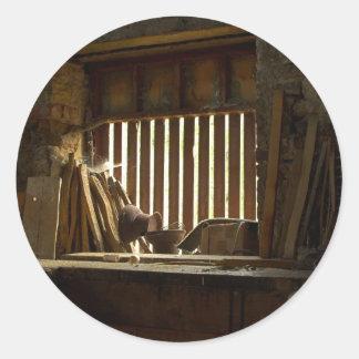 Pegatinas del taller de los carpinteros pegatina redonda