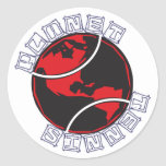 Pegatinas del tenis del planeta pegatinas redondas