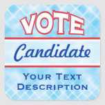 Pegatinas del texto del personalizar del VOTO