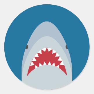 Pegatinas del tiburón pegatina redonda