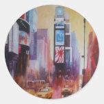 Pegatinas del Times Square Pegatinas Redondas