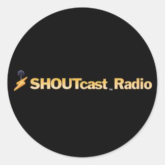 Pegatinas del título de SHOUTcast Pegatina Redonda