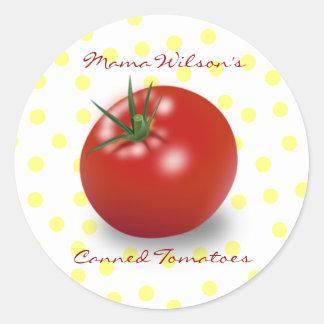 Pegatinas del tomate etiquetas redondas