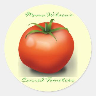 Pegatinas del tomate pegatina redonda