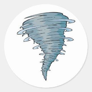 Pegatinas del tornado pegatina redonda