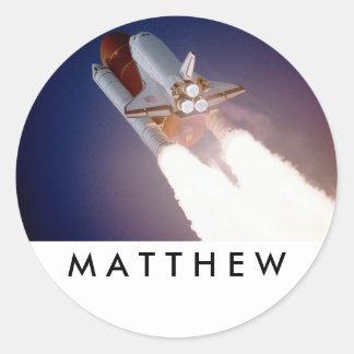 Pegatinas del transbordador espacial pegatina redonda