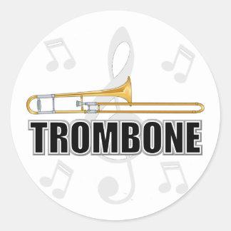 Pegatinas del Trombone Pegatina Redonda