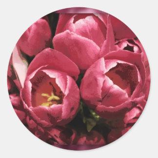 Pegatinas del tulipán pegatina redonda