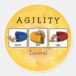 Pegatinas del túnel GBU de la agilidad Etiqueta Redonda